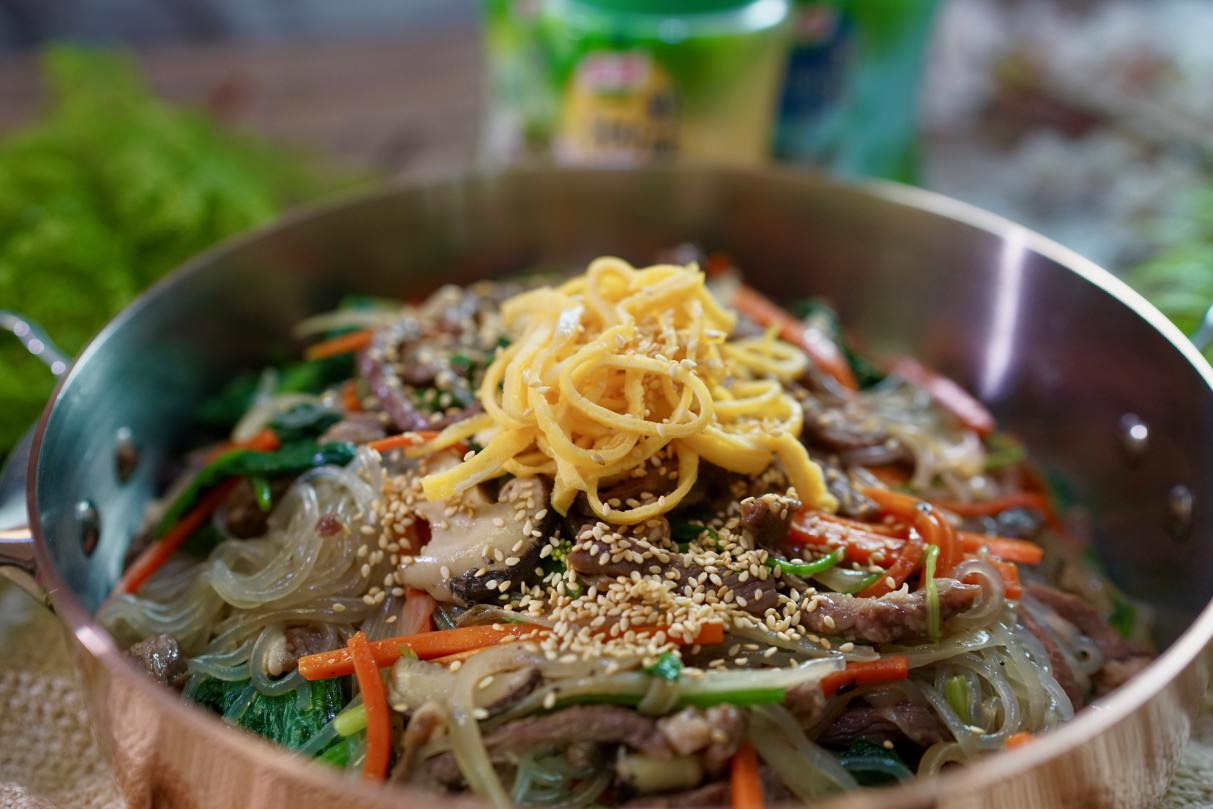 Q彈清爽開胃的韓式涼拌冬粉,韓式雜菜輕鬆做,簡單一次就上手!