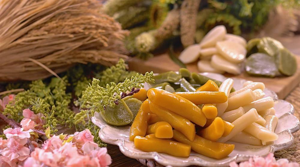 DIY彩色韓國年糕、寧波年糕超簡單!純天然蔬果製作超健康,Q軟好吃不脹氣