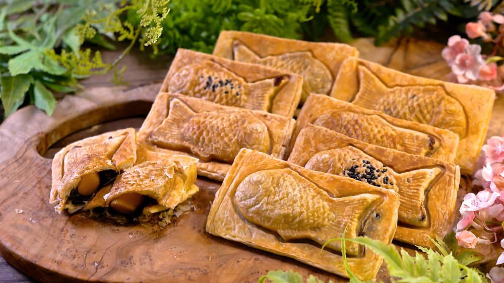 可頌千層酥皮鯛魚燒,爆餡脆皮好滋味,名店甜點自己做