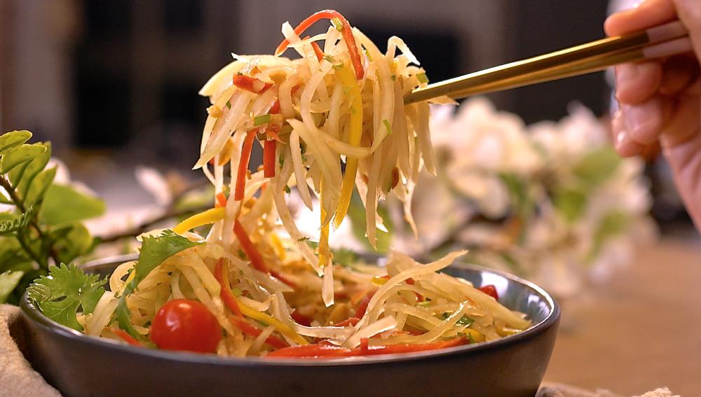 涼拌青木瓜絲超簡單美味做法,復刻經典泰式美味!上桌秒殺配方